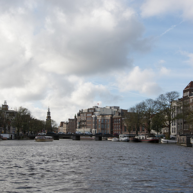 """""""canal in Amsterdam"""" stock image"""