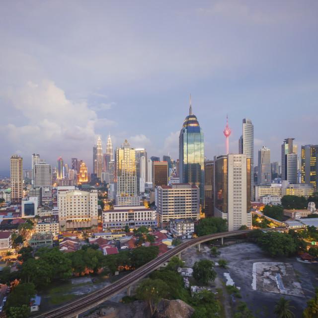 """""""Cloudy sunset at Kuala Lumpur"""" stock image"""