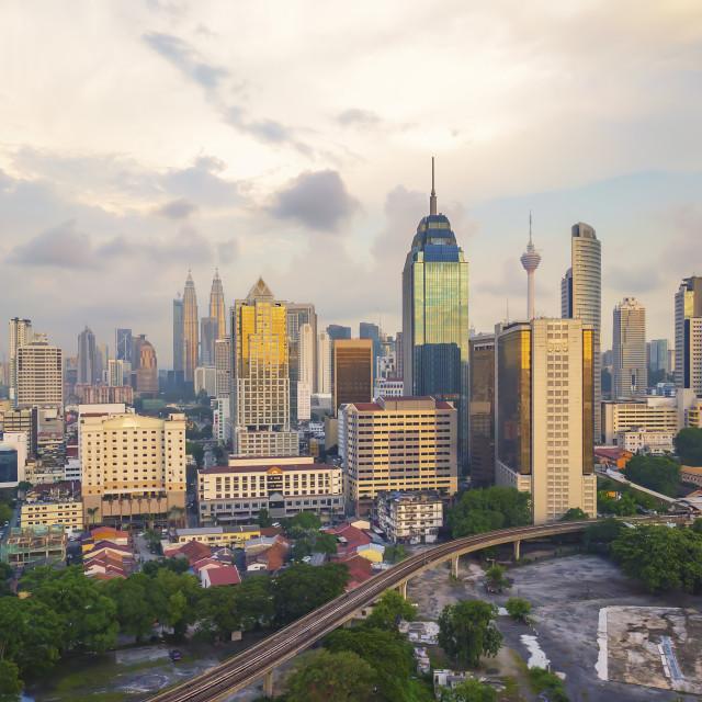 """Cloudy sky at Kuala Lumpur"" stock image"