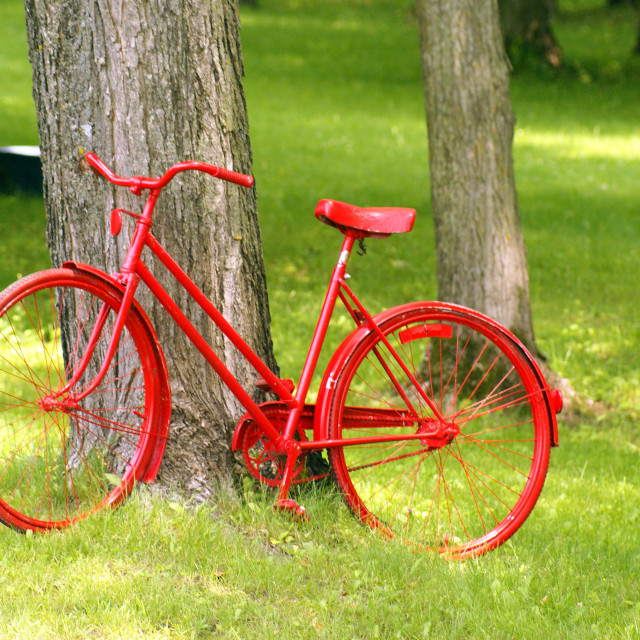 """""""Vélo rouge"""" stock image"""