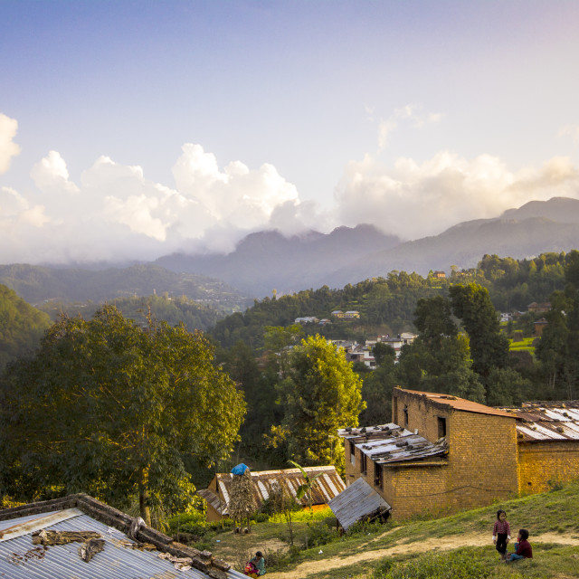 """Nepal Mountains"" stock image"