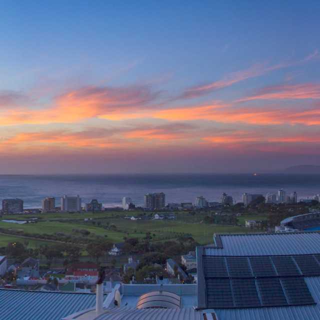 """""""Cape Town Sunset"""" stock image"""