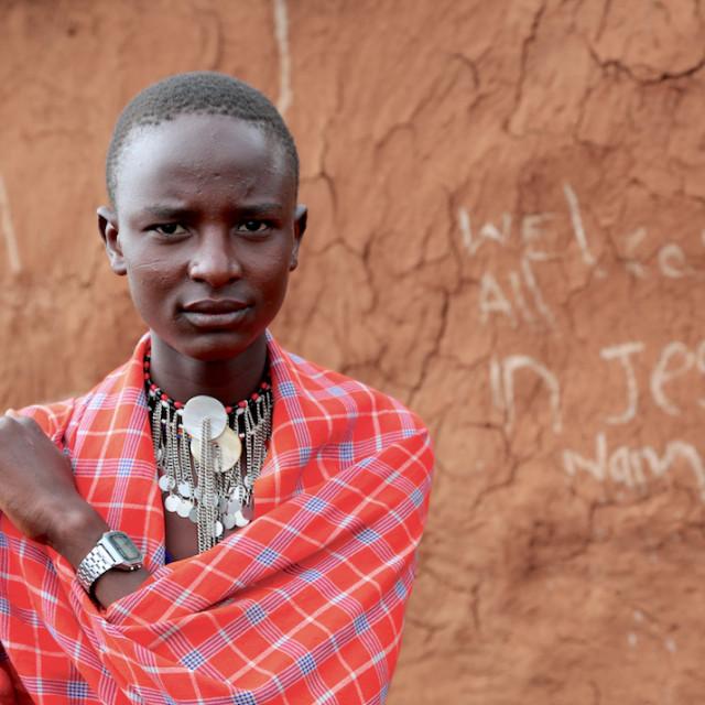 """Maasai Cattle herder"" stock image"