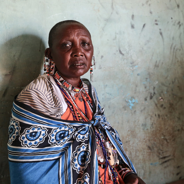 """Portrait - village elder"" stock image"