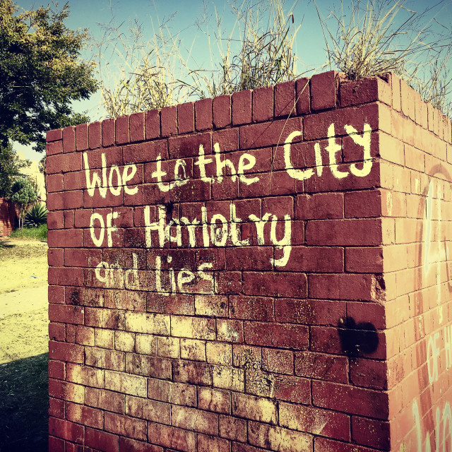 """""""Harlotry and Lies"""" stock image"""