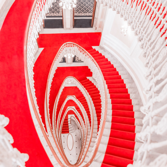 """""""Above view with spiral staircase"""" stock image"""