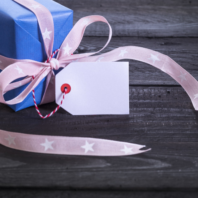 """Gift box with label tag"" stock image"