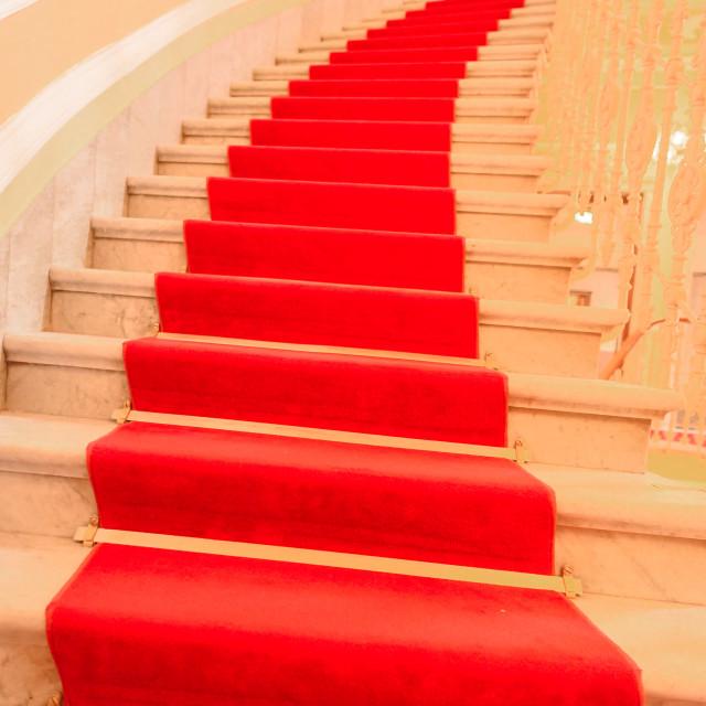 """Red carpet interior stairs"" stock image"