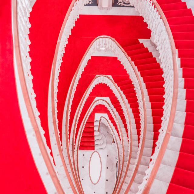 """""""Spiral marble stairs"""" stock image"""