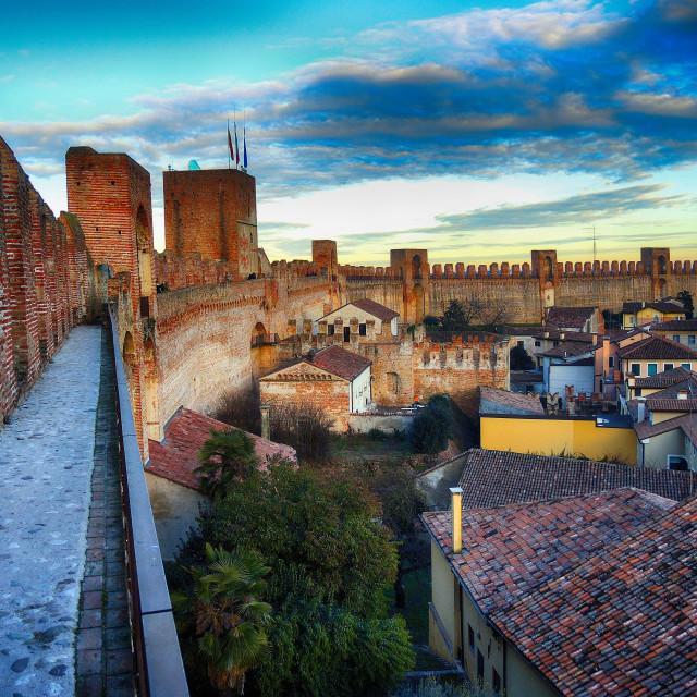 """Fence walls of Cittadella"" stock image"