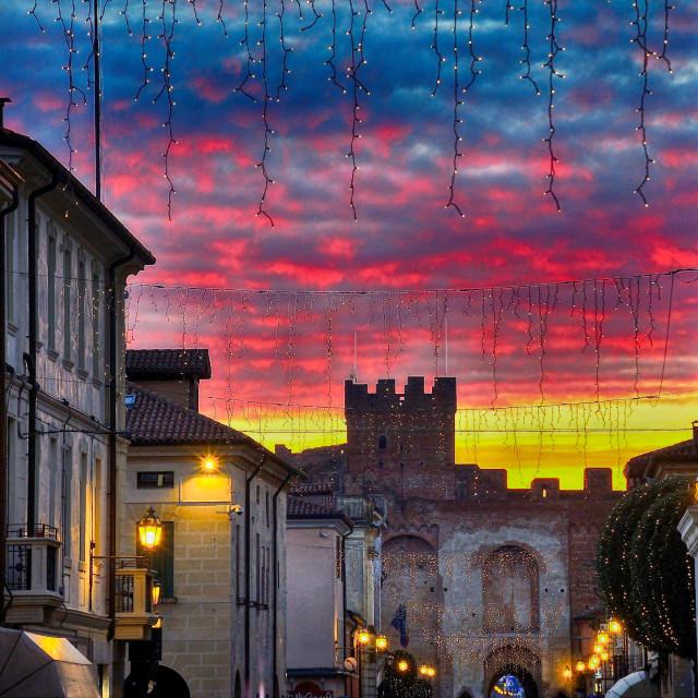 """""""Sunset with luminaries"""" stock image"""