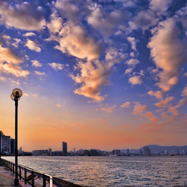 """""""Quarry Bay Waterfront Promenade, Hong Kong"""" stock image"""