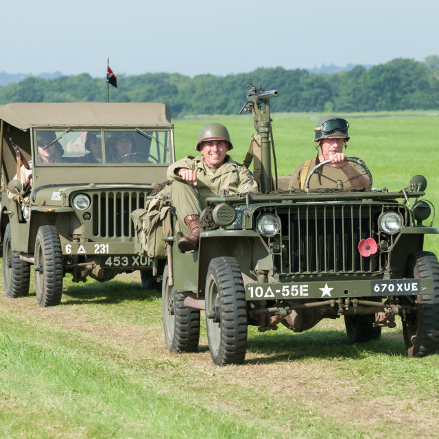 """vintage military jeeps"" stock image"