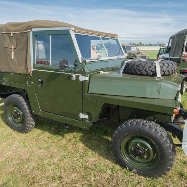 """Vintage Land Rover"" stock image"