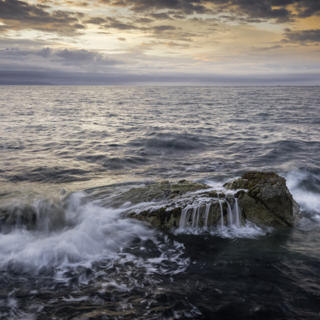 """""""Dusk on the Rocks"""" stock image"""