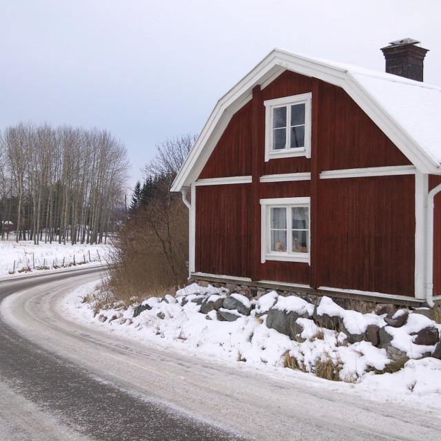 """""""Winter in rural Sweden"""" stock image"""