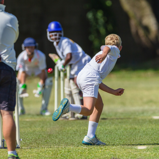 """Cricket Juniors Game Action"" stock image"