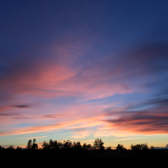 """Prairie Sunset"" stock image"