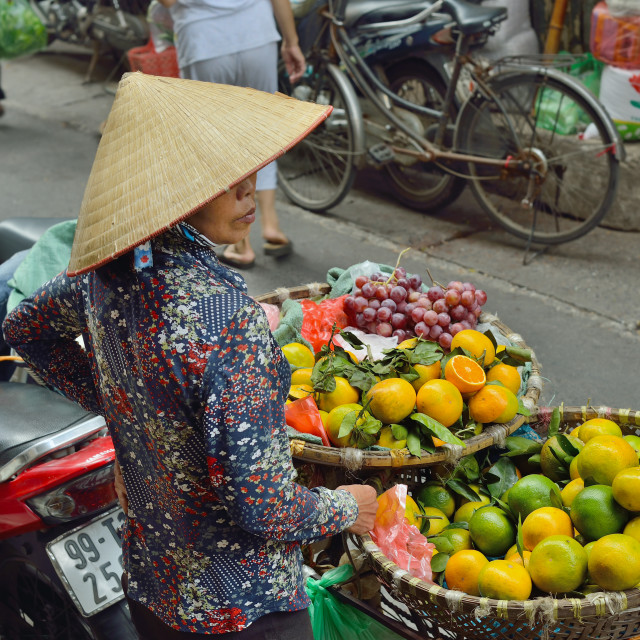 """Fruit seller"" stock image"
