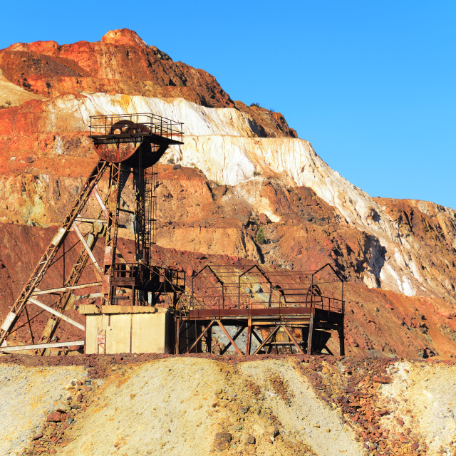 """Abandoned mine in Mars"" stock image"