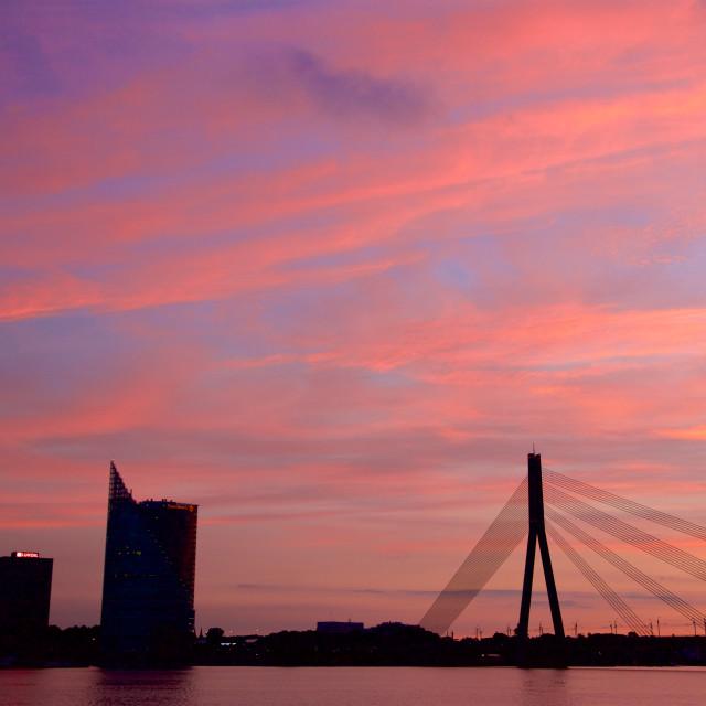 """""""Vansu Bridge"""" stock image"""