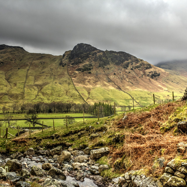 """Great Langdale"" stock image"