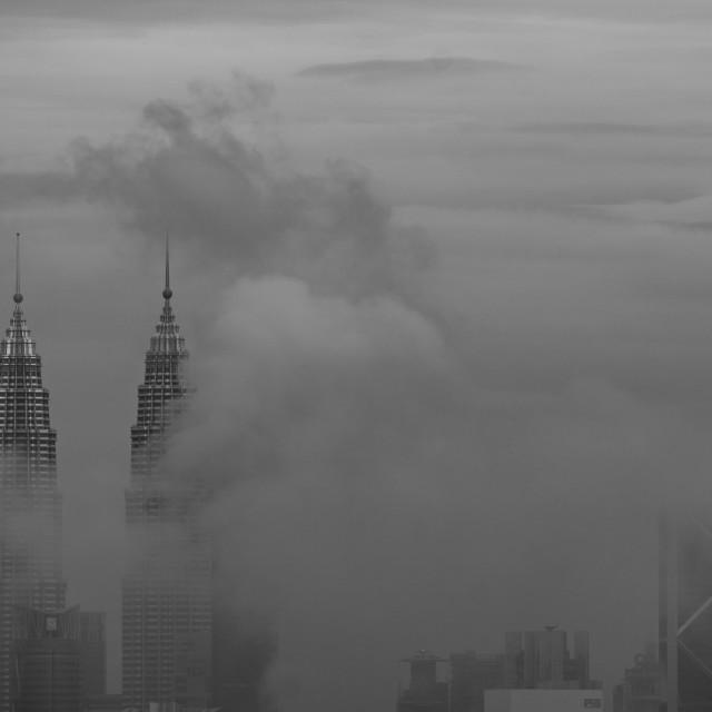 """""""Morning fog in KL"""" stock image"""