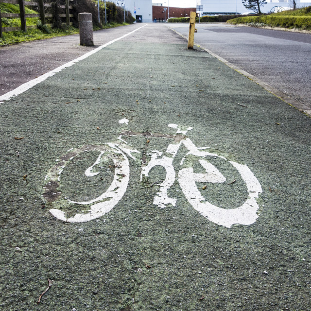 """Bicycle Lane"" stock image"