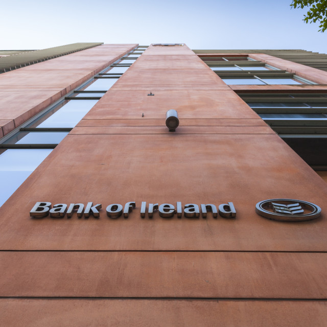 """Bank of Ireland"" stock image"