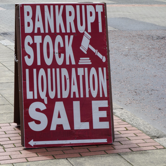 """Liquidation sale"" stock image"