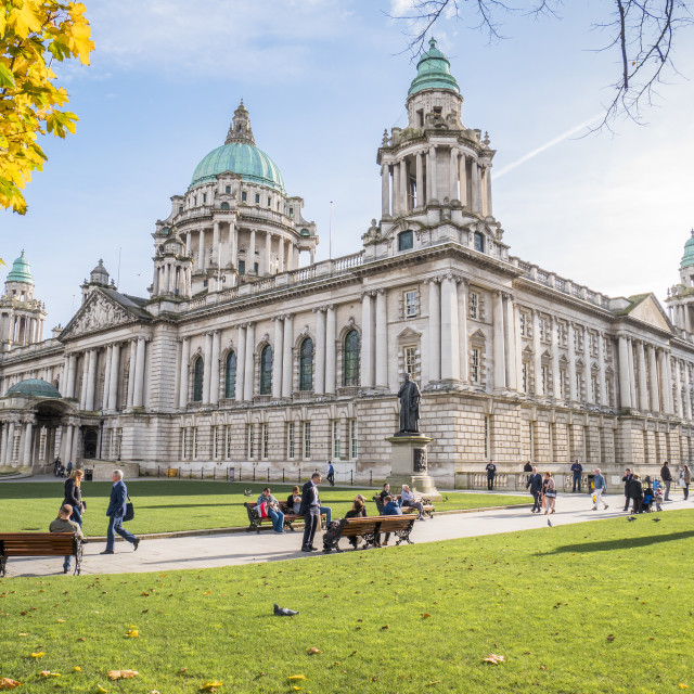 """City Hall, Belfast"" stock image"