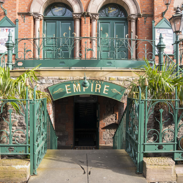 """The Belfast Empire Music Hall"" stock image"