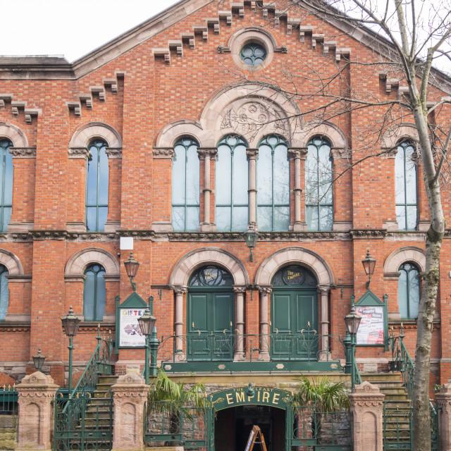"""The Belfast Empire Music Hall"" stock image"