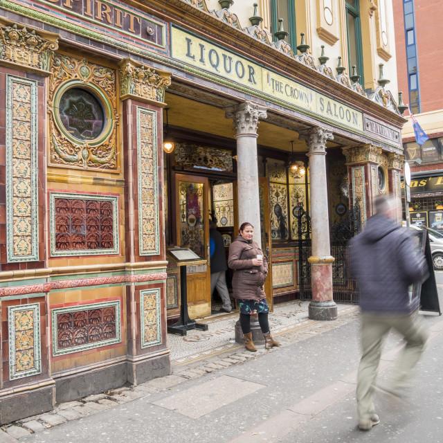 """The Crown Liquor Saloon"" stock image"