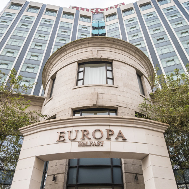 """Europa Hotel, Belfast"" stock image"