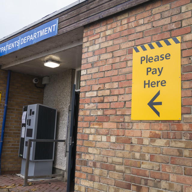 """Hospital car park charges"" stock image"