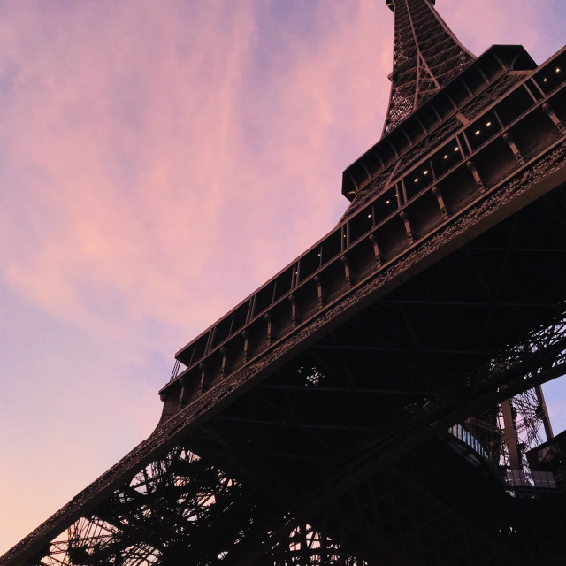 """Sunset at the Eiffel Tower"" stock image"