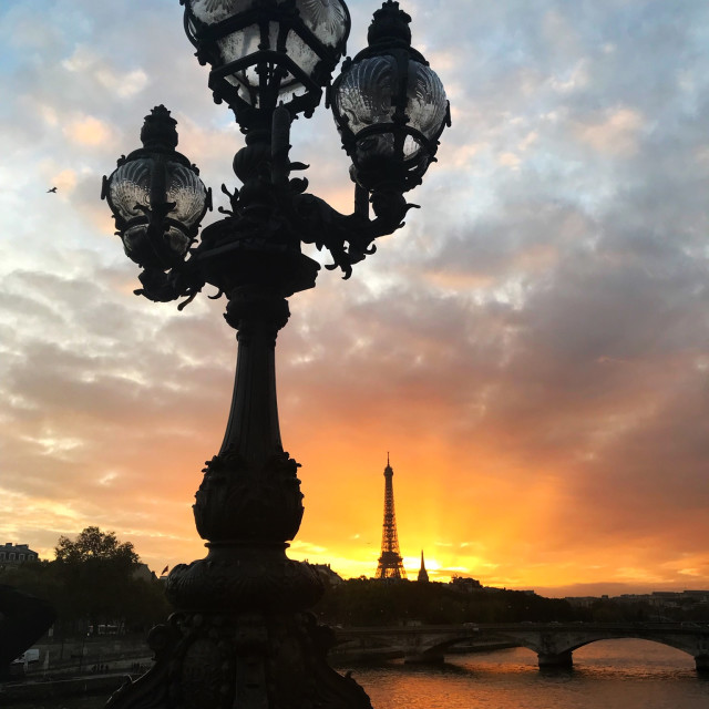 """Sunset in Paris"" stock image"