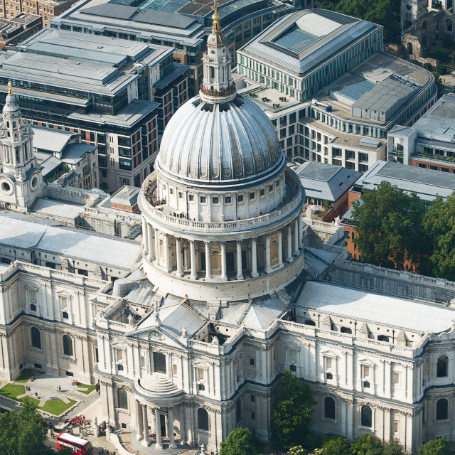 """""""Aerial view of St Paul's Cathedral, London"""" stock image"""