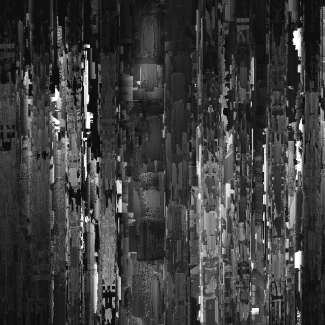 """""""Vertical black and white night city abstract illustration"""" stock image"""