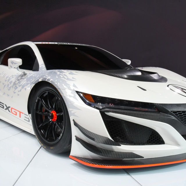 """New Acura NSX in Detroit at NAIAS"" stock image"