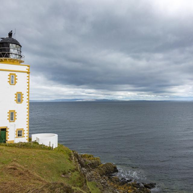 """Light House On the Holy Island-Scotland"" stock image"