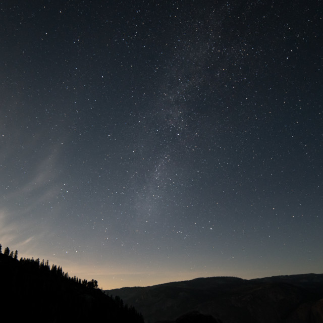 """""""Milky Way from Glacier Point"""" stock image"""