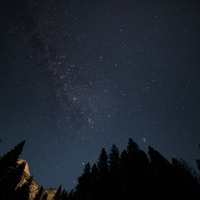 """Milky Way over Yosemite"" stock image"
