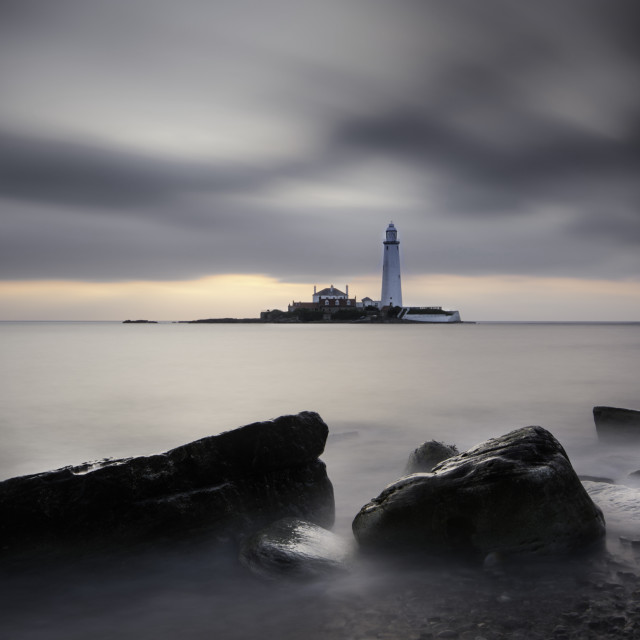 """St Marys Lighthouse"" stock image"