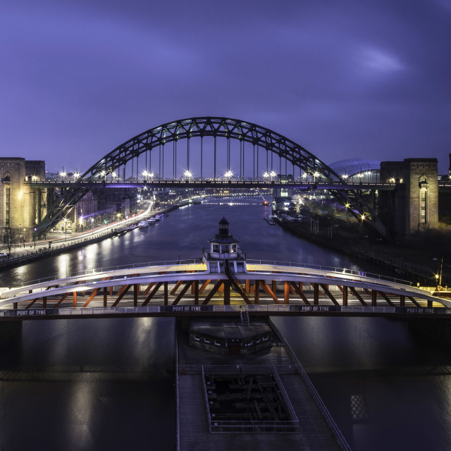 """River Tyne Bridges"" stock image"