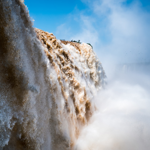 """Iguazu falls between Brazil and Argentina"" stock image"