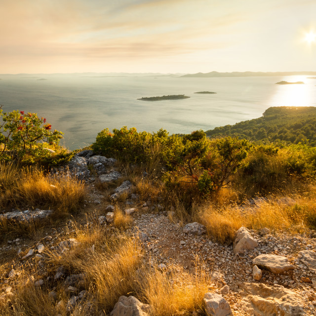 """Sunset on Čelinka viewpoint"" stock image"