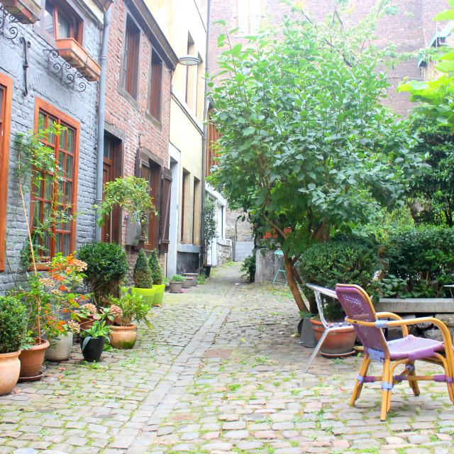 """Old neighbourhood. Liège, Belgium"" stock image"