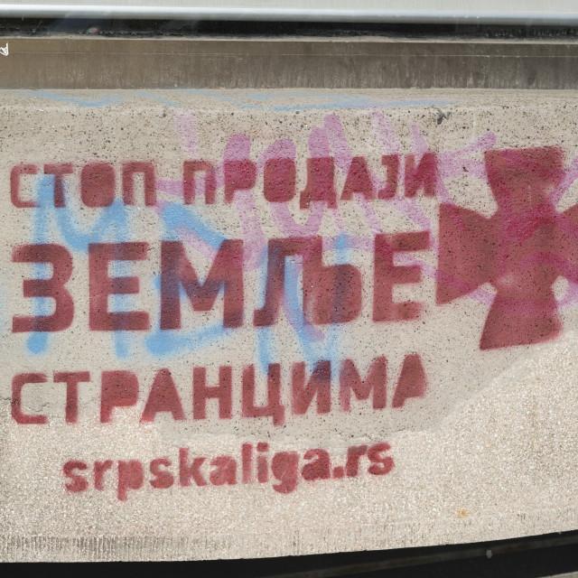 """Graffity in Belgrad"" stock image"